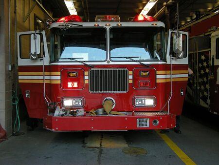 empty american firetruck, photo taken in new york Stock Photo - 4172494