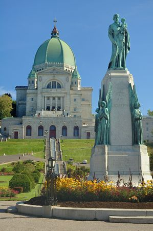 St. Joseph Oratory and St. Joseph monument, Montreal, Canada Stock Photo - 4763040