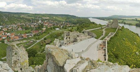 view from Slavin castle ruins, famous landmark near slovak capital city Bratislava photo