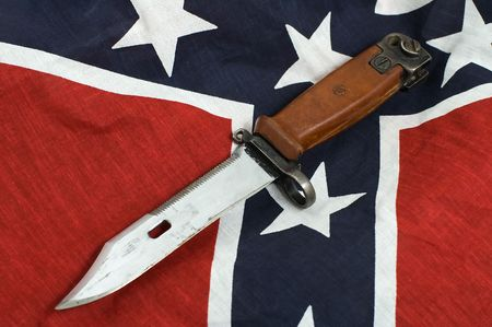 army knife on Flag of the Confederate States of America  photo