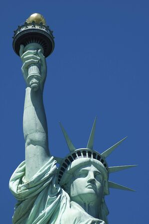 Statue of Liberty on Liberty Island in New York City, detail photo photo