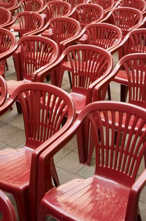 empty plastic chairs vertical photo Stock Photo - 5465958