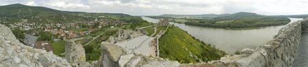 morava: devin castle ruins panorama photo, danube visible