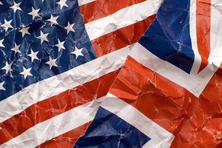 united kingdom and united states of america flags detail photo photo