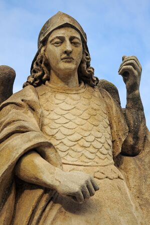 arma: angel warrior sculpture, vertical photo