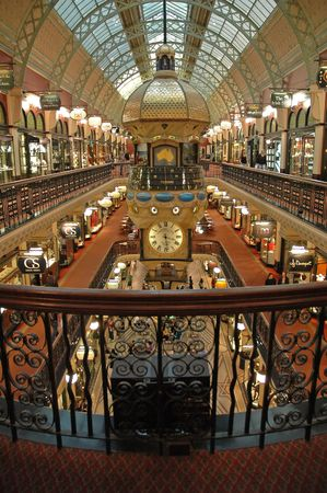 Queen Victoria Building interior, Sydney, Australia, vertical photo
