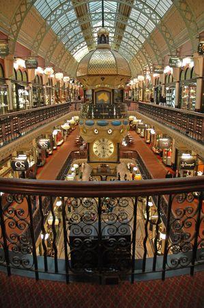 Queen Victoria Building interior, Sydney, Australia, vertical photo