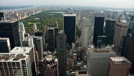 manhattans: Manhattan;s Central Park viewed from Rockefeller Center