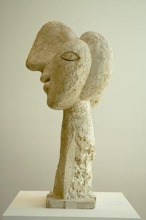 pablo: 13 Luglio 2008 - NEW YORK, Stati Uniti - scultura di Pablo Picasso - testa di guerriero. Foto scattata in The Museum of Modern Art (MoMA)