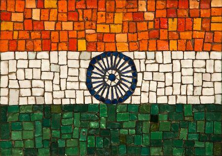 hinduismo: La bandera nacional de la Rep�blica de la India, creado como panel de la ventana.