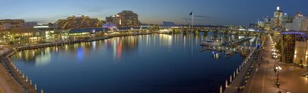 sunset photo of Darling Harbour in Sydney, Australia photo