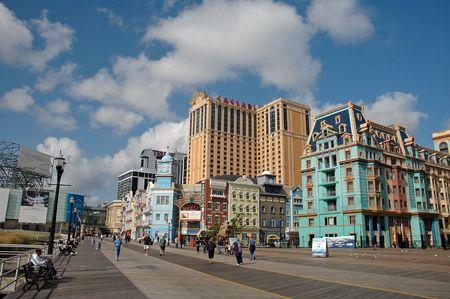 23. SEPTEMBER 2008 - ATLANTIC CITY, USA - boardwalk of Atlantic City, Caesars Casino and others