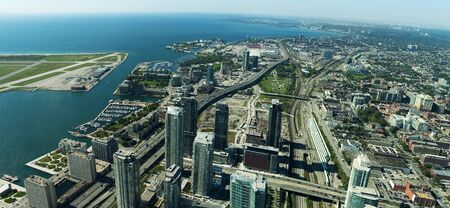 Toronto center panorama photo taken from CN Tower photo