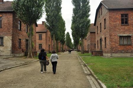 auschwitz: 26. JULY 2010 - OSWIECIM, POLAND - concentration camp Auschwitz in Oswiecim (Osviencim), Poland. Photo taken on 26. july 2010. Editorial