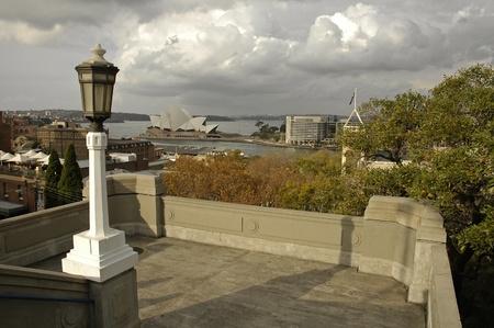 Sydney, photo taken from Harbour Bridge, Opera House in distance