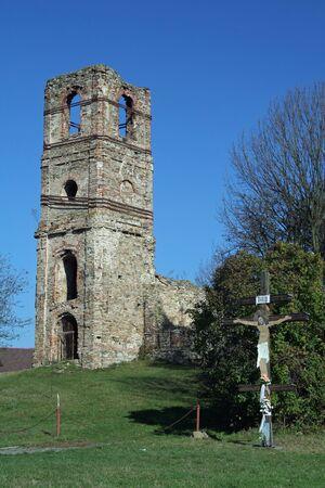 national landmark: Monastyr - storico-culturale, punto di riferimento nazionale vicino a citt� Medzilaborce, Slovacchia Editoriali