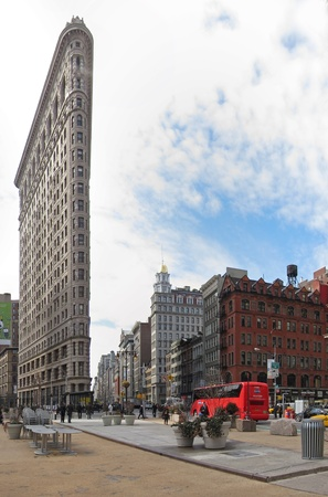24. MARCH 2011 - MANHATTAN, NEW YORK, USA - The Flatiron Building (Fuller Building) located at 175 Fifth Avenue in the borough of Manhattan, New York City, USA. Photo taken on 24. March 2011. Editorial