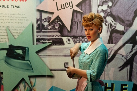 31. MARCH 2011 - MANHATTAN, NEW YORK CITY, USA - wax figure of Lucille Ball at Madame Tussauds in New York, USA. Photo taken on 31. March 2011.