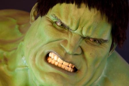 31. Mars 2011 - Manhattan, New York City, Etats Unis - figure de cire de l'incroyable Hulk chez Madame Tussauds � New York, Etats-Unis. Photo prise le 31. Mars 2011.