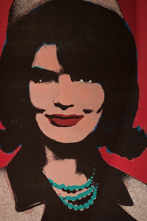 31. MARCH 2011 - MANHATTAN, NEW YORK CITY, USA - pop art photo of Jacqueline Kennedy at Madame Tussauds museum in New York, USA. Photo taken on 31. March 2011.