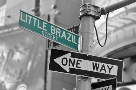 LITTLE BRAZIL STREET sign in Manhattan, New York. Stock Photo - 11306277