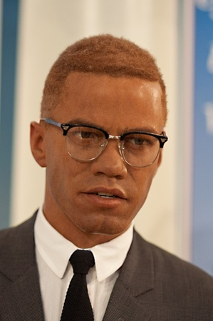 31. MARCH 2011 - MANHATTAN, NEW YORK CITY, USA - wax figure of Malcolm X at Madame Tussauds in New York, USA. Photo taken on 31. March 2011.