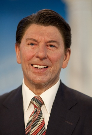 ronald reagan: 31. MARCH 2011 - MANHATTAN, NEW YORK CITY, USA - wax figurine of Ronald Reagan (40th President of the United States) at Madame Tussauds in New York, USA. Photo taken on 31. March 2011.