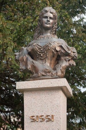 empress: Empress Elisabeth of Austria and Queen of Hungary, also known as Sissi (Sisi). sculpture in Presov, Slovakia.