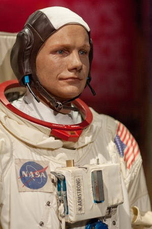 31. MARCH 2011 - MANHATTAN, NEW YORK CITY, USA - wax figure of Neil Armstrong at Madame Tussauds in New York, USA. Photo taken on 31. March 2011. Editorial