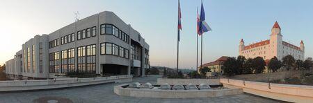 rada: National Council of Slovak Republic (Narodna rada SR) and Bratislava castle (Bratislavsky hrad)