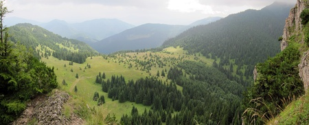 mountain range panorama in Mala Fatra National Park (slovak: Narodny park Mala Fatra), Slovakia. photo