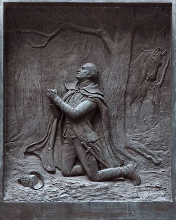 federal hall: The prayer at Valley Forge at the Federal Hall in New York. Stock Photo