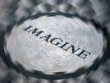 IMAGINE - The Strawberry Fields mosaic in Central Park, New York City