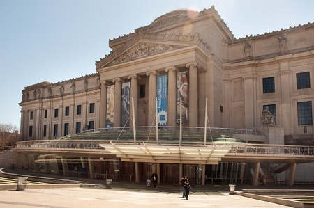 29. MARCH 2011 - BROOKLYN, NEW YORK, USA - exterior photo of Brooklyn museum in New York. Photo on 29 march 2011.