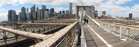 Brooklyn Bridge panorama photo, New York City, USA  photo