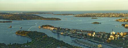 port jackson: panorama photo of Port Jackson in Sydney Stock Photo