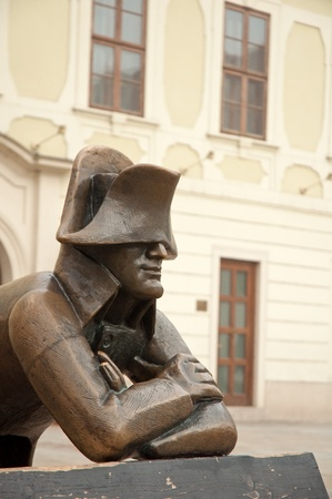 napoleon: Napoleon bronze statue on Hlavne namestie  Main Square  in Bratislava, capital city of Slovak republic