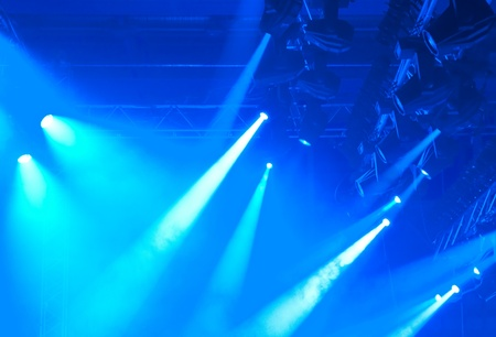 blue entertainment lights