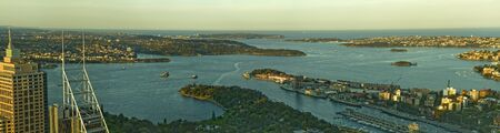 port jackson: Port Jackson in Sydney, panorama
