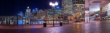 5. SEPTEMBER 2006 - SYDNEY, AUSTRALIA - panorama photo of Darling Harbor in Sydney, Australia. Photo taken on 5 september 2006.