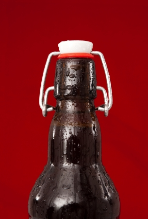 stopper: Brown glass bottle with stopper Stock Photo