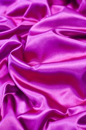 silken: pink rippled fabric Stock Photo