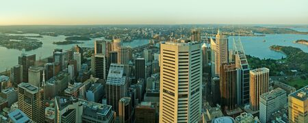 centrepoint tower: Sydney CBD panorama photo taken from AMP Tower  Stock Photo
