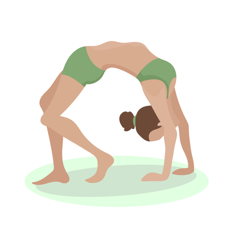 girl in yoga pose 向量圖像