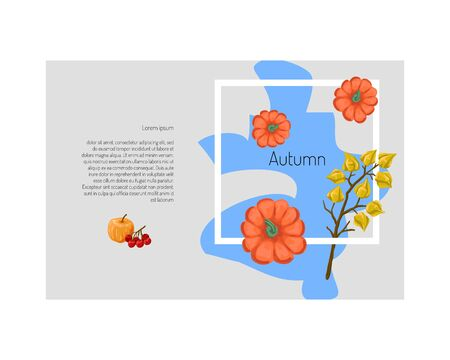 Autumn banner, design for halloween or thanksgiving, autumn discounts and sales. Vector illustration 일러스트