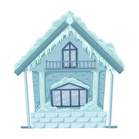 Ice hut from russian fairytales. Vector isolated illustration. Illustration