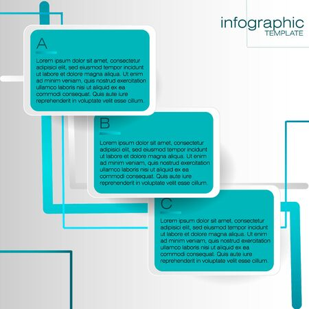 potentiality: Infographic template with blue labels