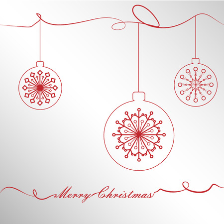 Christmas ornaments in red shades