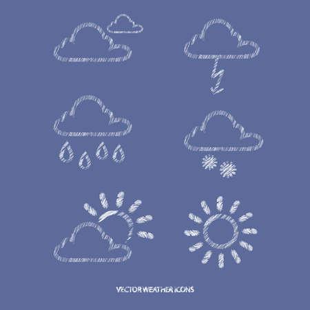 prognosis: Icons of weather Illustration