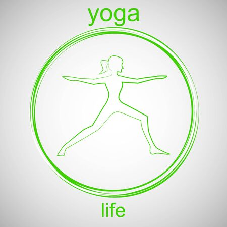 peace movement: Yoga Life Illustration